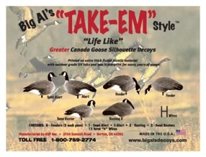 Picture of Greater Canada Goose Silhouette Decoys by Big Al's Decoys