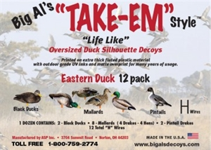 Picture of Eastern Duck Silhouettes 1 dz. by Big Al's Decoys
