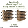 Picture of **FREE SHIPPING** Pro-Grade Blue-Winged Teal Duck Decoys - Early Season Hen Pack (AV73126) by Greenhead Gear GHG