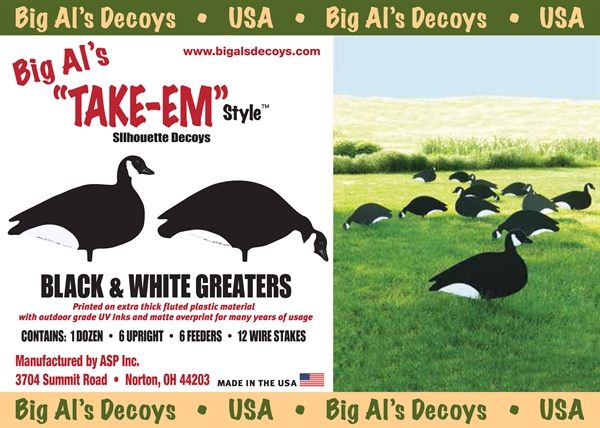 Prairiewind Decoys Black And White Greater Canada Goose